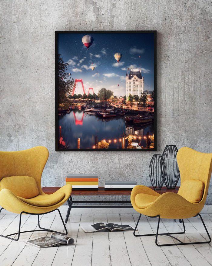 Balloons-over-rotterdam-3-kunstwerk-aan-de-muur-Giantific