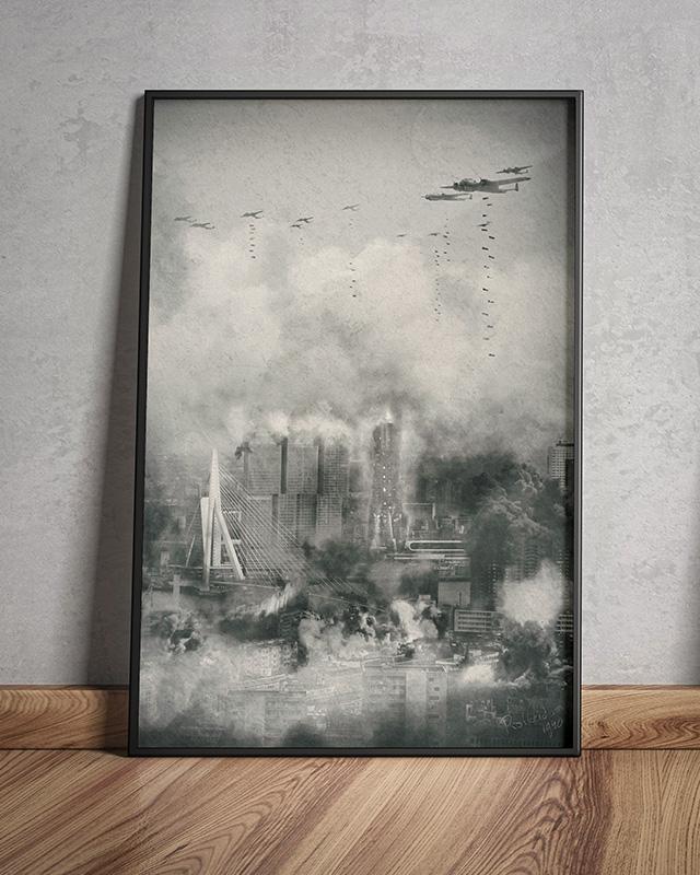 Rotterdam - WW2 - Memorial Day - Ingelijst