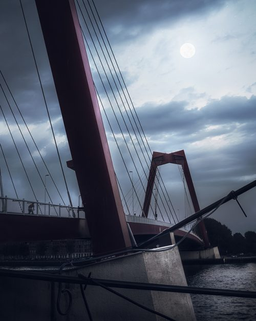 Rotterdam - Willemsbrug - Moonlight