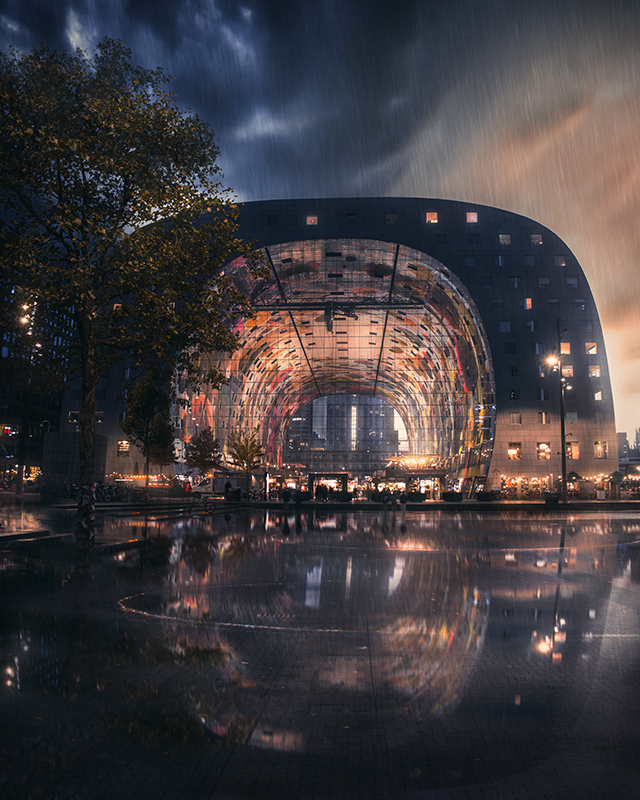 Rotterdam - Markthal - Reflection