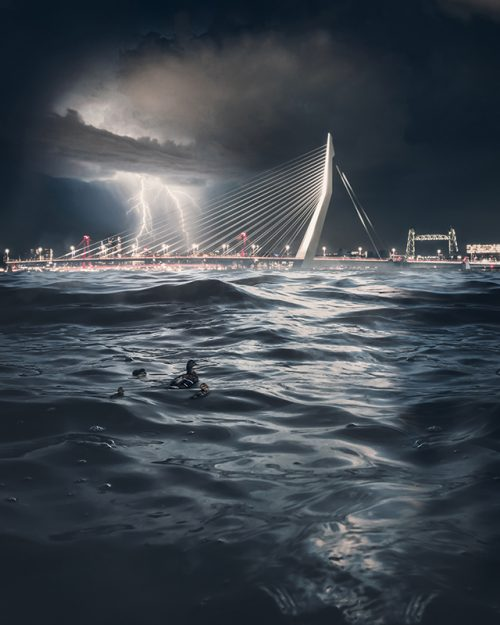 Rotterdam - Storm at Sea