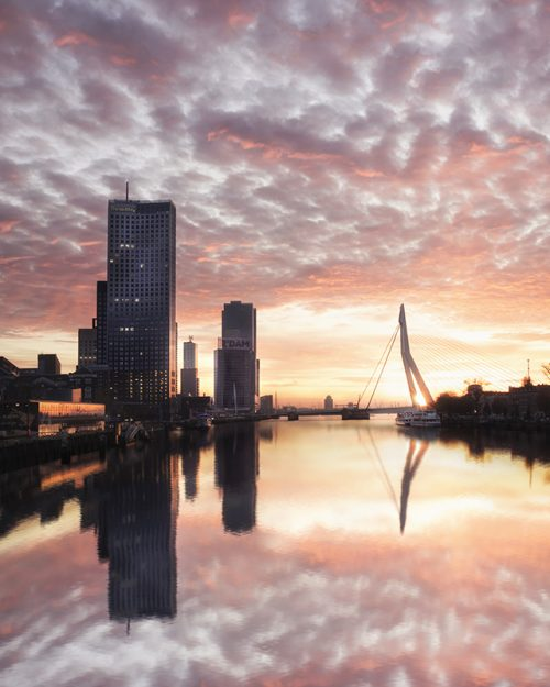 Rotterdam - Magical Sunset - Noordereiland - Horizontal