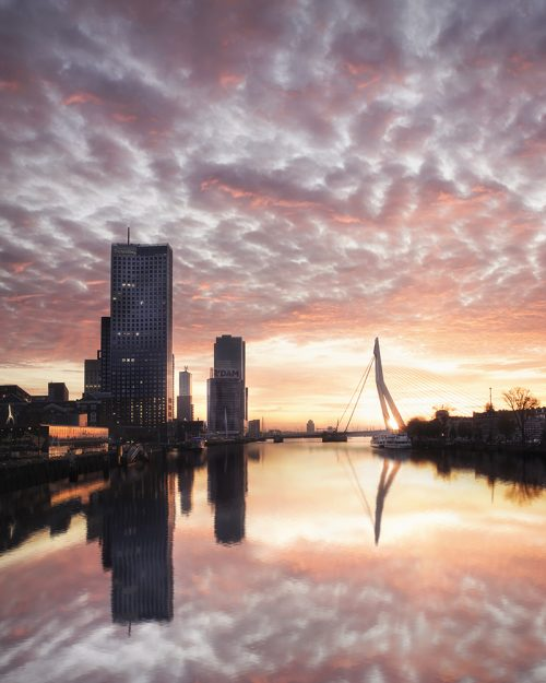 Rotterdam - Magical Sunset - Noordereiland - Vertical